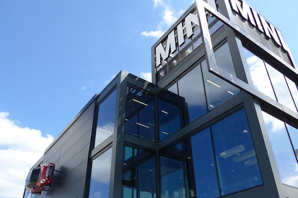BMW Mini Showroom | Roofing & Cladding | Kovara Projects Ltd