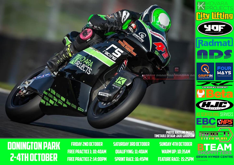Kovara Projects Racing @ Donington Park British Superbike – Penultimate Round